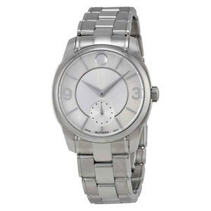 Movado LX Silver Dial Stainless Steel Ladies Watch